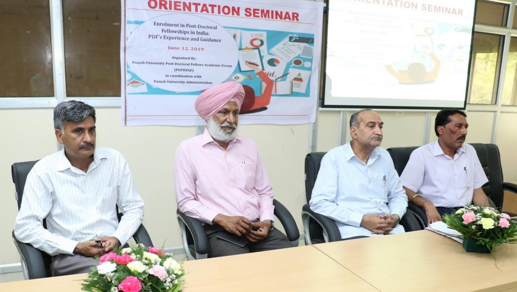 Seminar on Enrolment in Post-Doctoral Fellowships held at PU
